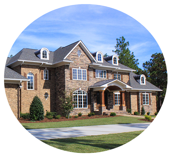 Pinehurst NC Home with Asphalt Shingles